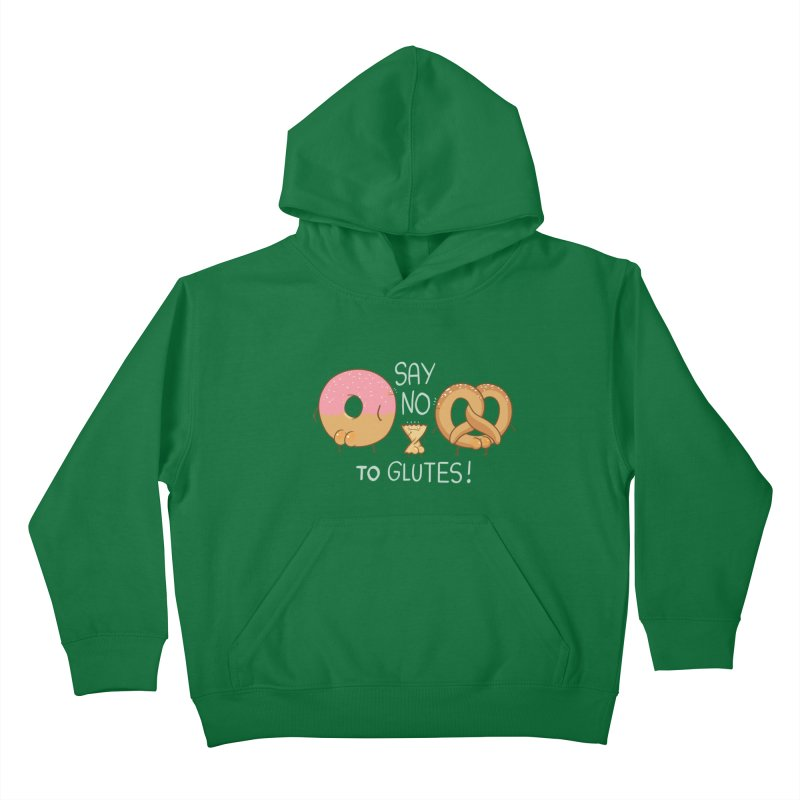 Glutes Intolerant Kids Pullover Hoody by The Art of Anna-Maria Jung