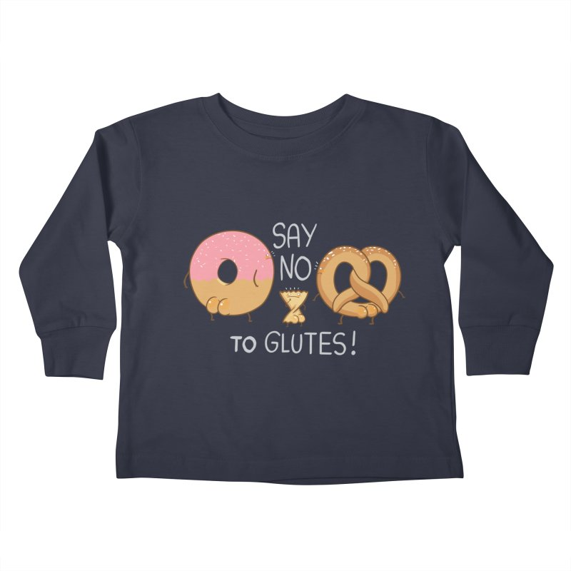 Glutes Intolerant Kids Toddler Longsleeve T-Shirt by The Art of Anna-Maria Jung