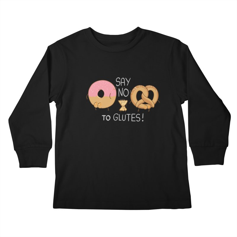 Glutes Intolerant Kids Longsleeve T-Shirt by The Art of Anna-Maria Jung