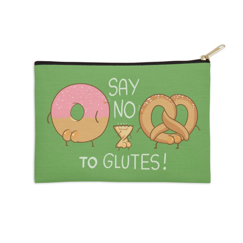 Glutes Intolerant Accessories Zip Pouch by The Art of Anna-Maria Jung