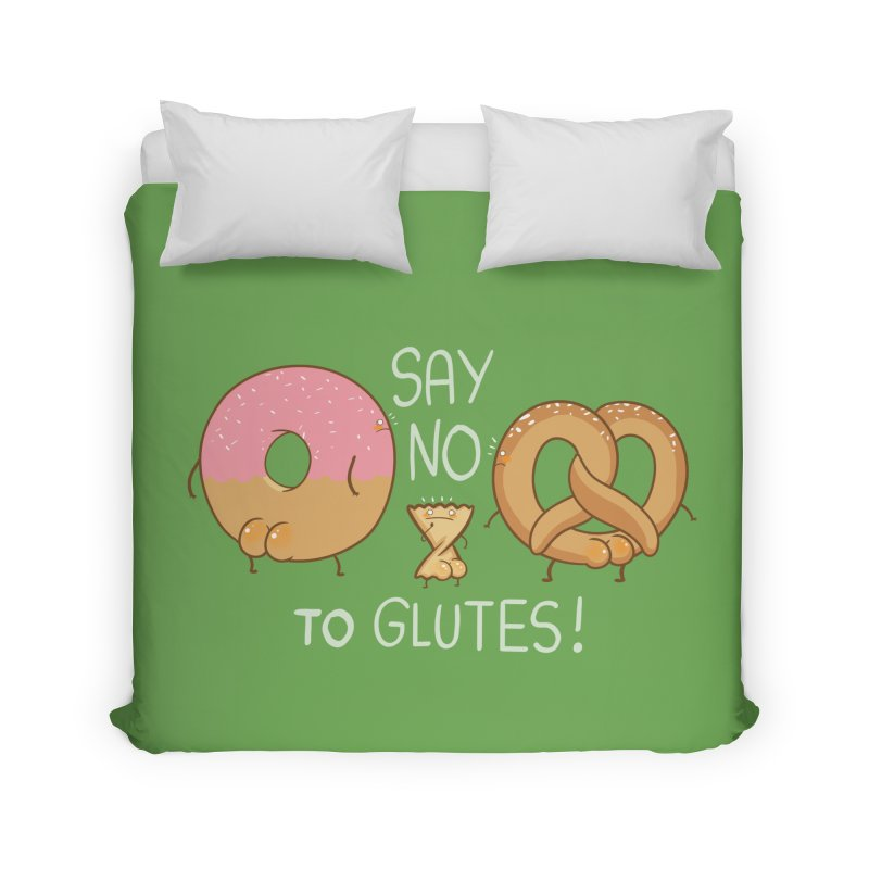 Glutes Intolerant Home Duvet by The Art of Anna-Maria Jung