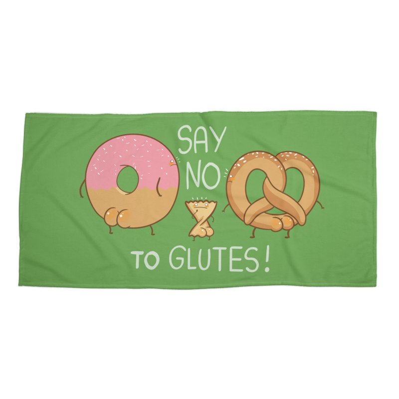 Glutes Intolerant Accessories Beach Towel by The Art of Anna-Maria Jung