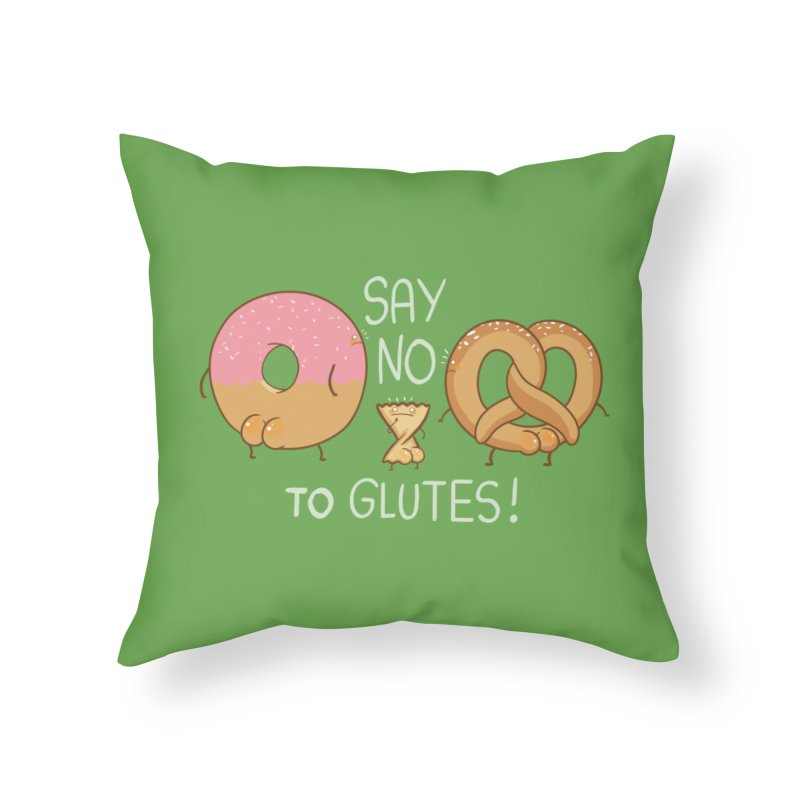Glutes Intolerant Home Throw Pillow by The Art of Anna-Maria Jung