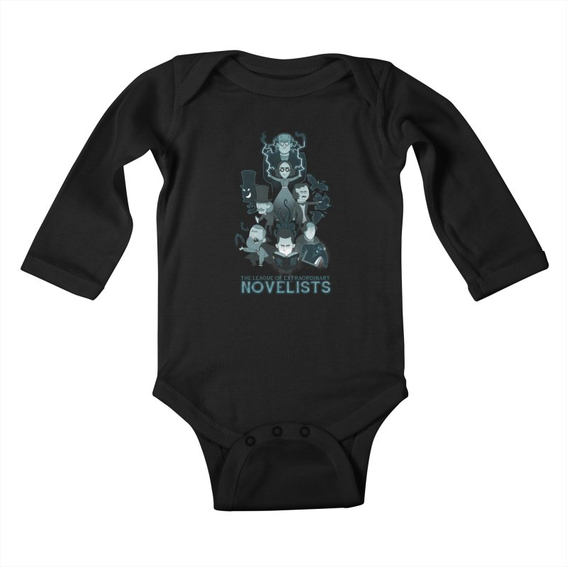 Extraordinary Novelists Kids Baby Longsleeve Bodysuit by The Art of Anna-Maria Jung