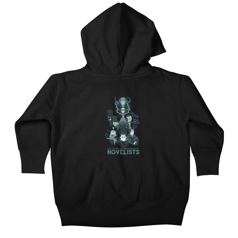 Extraordinary Novelists Kids Baby Zip-Up Hoody by The Art of Anna-Maria Jung