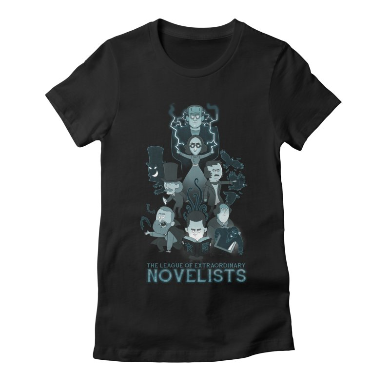 Extraordinary Novelists Women's Fitted T-Shirt by The Art of Anna-Maria Jung