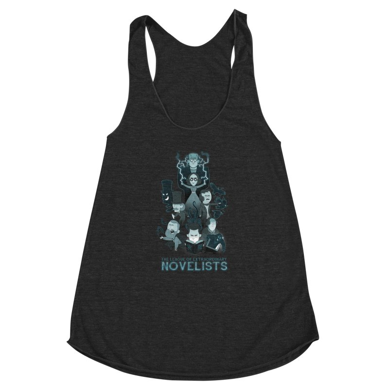 Extraordinary Novelists Women's Racerback Triblend Tank by The Art of Anna-Maria Jung