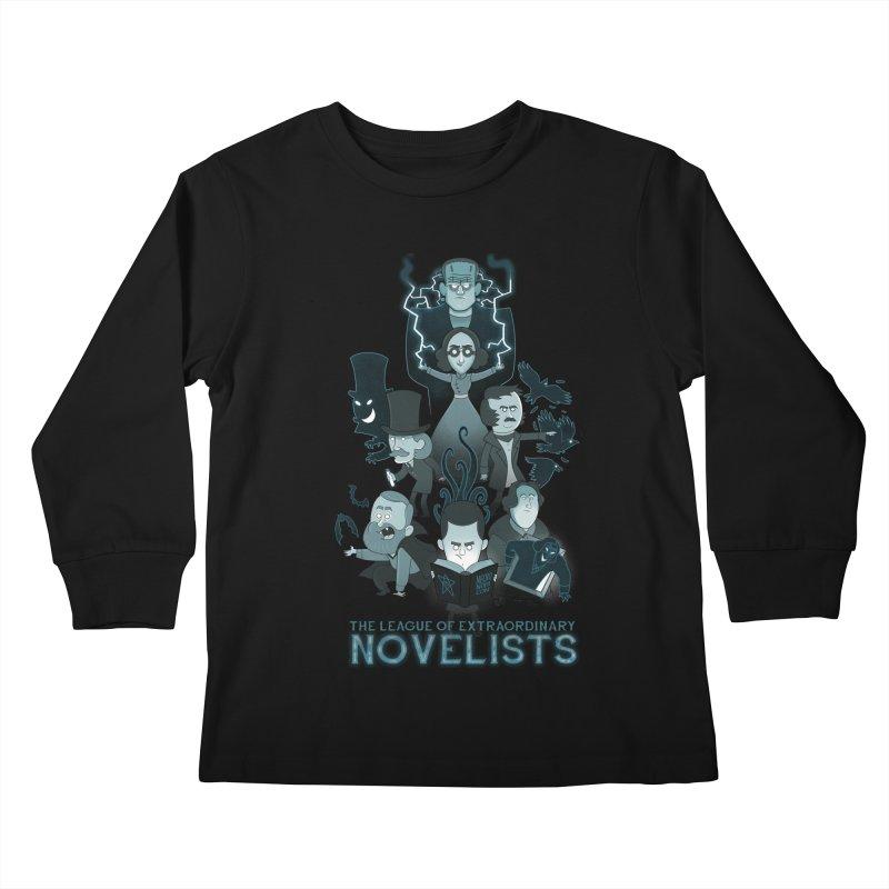 Extraordinary Novelists Kids Longsleeve T-Shirt by The Art of Anna-Maria Jung