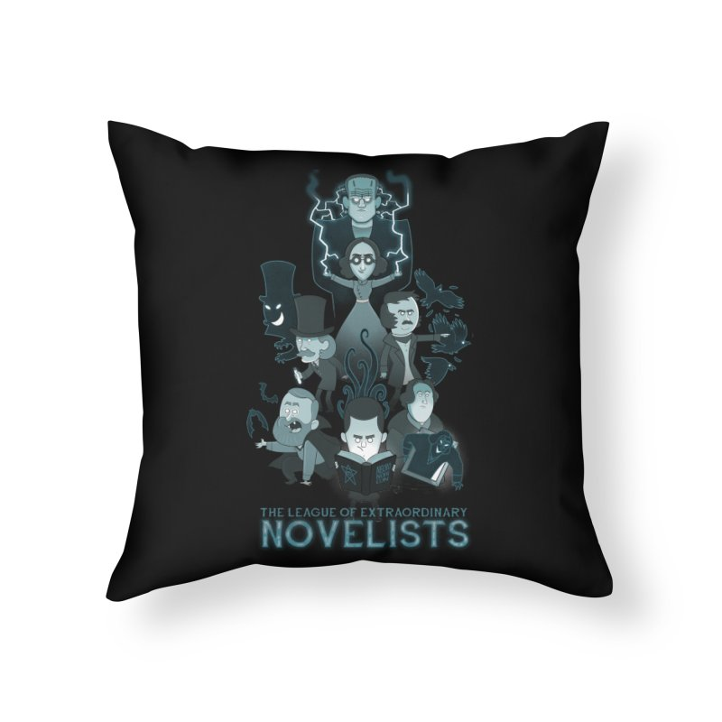 Extraordinary Novelists Home Throw Pillow by The Art of Anna-Maria Jung