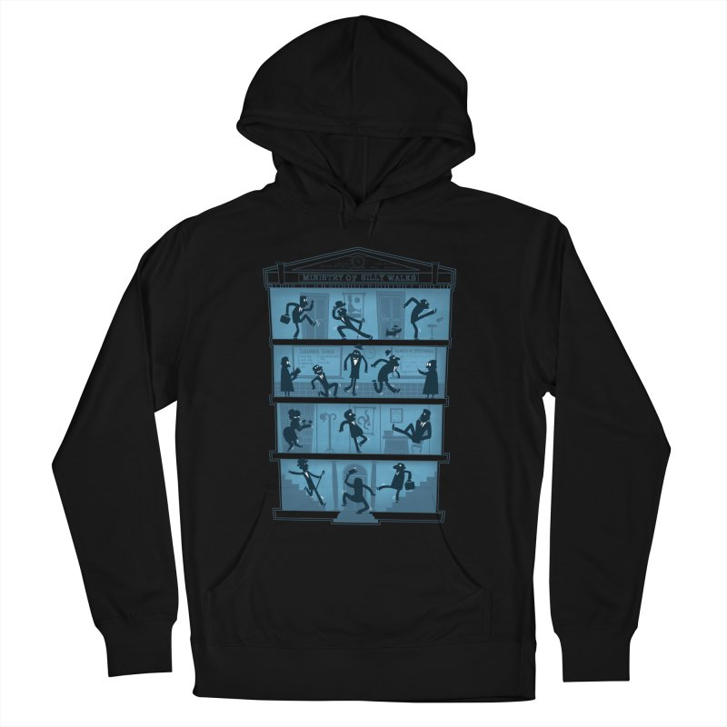 Silly Walking Men's French Terry Pullover Hoody by The Art of Anna-Maria Jung