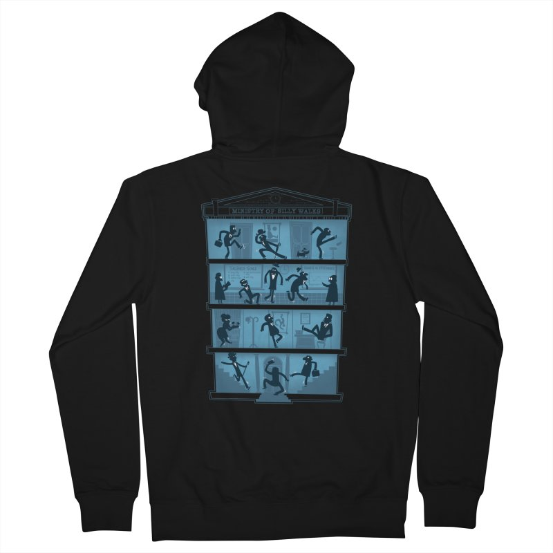 Silly Walking Men's Zip-Up Hoody by The Art of Anna-Maria Jung