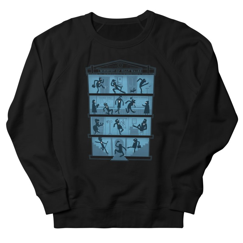 Silly Walking Men's French Terry Sweatshirt by The Art of Anna-Maria Jung