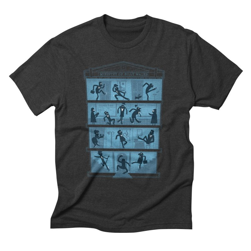 Silly Walking Men's Triblend T-shirt by The Art of Anna-Maria Jung