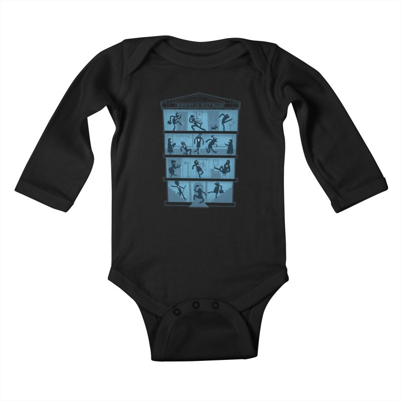 Silly Walking Kids Baby Longsleeve Bodysuit by The Art of Anna-Maria Jung