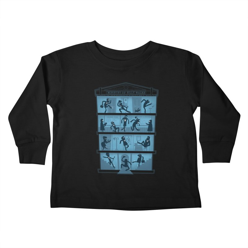 Silly Walking Kids Toddler Longsleeve T-Shirt by The Art of Anna-Maria Jung