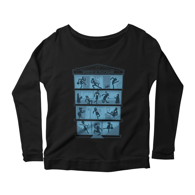 Silly Walking Women's Longsleeve Scoopneck  by The Art of Anna-Maria Jung