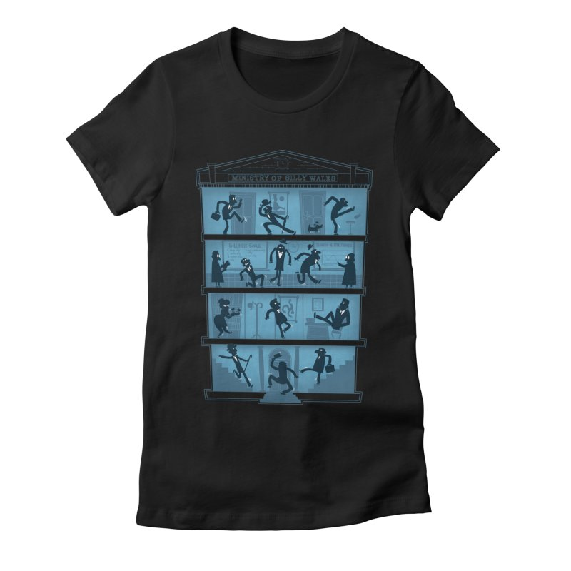 Silly Walking Women's Fitted T-Shirt by The Art of Anna-Maria Jung