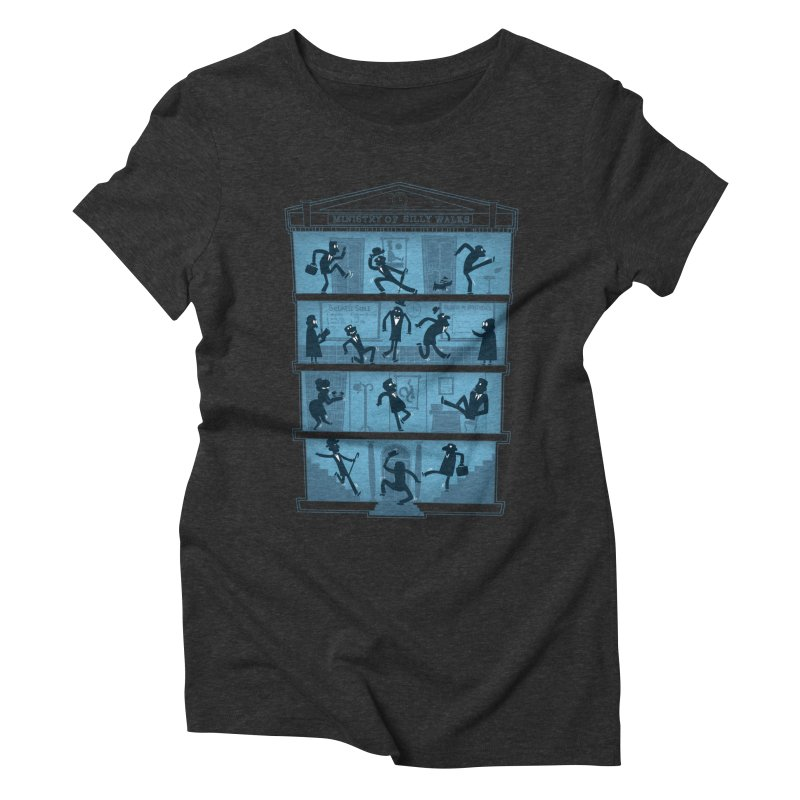 Silly Walking Women's Triblend T-shirt by The Art of Anna-Maria Jung