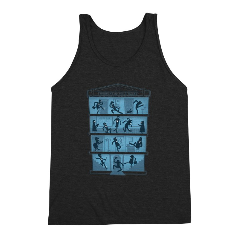 Silly Walking Men's Triblend Tank by The Art of Anna-Maria Jung