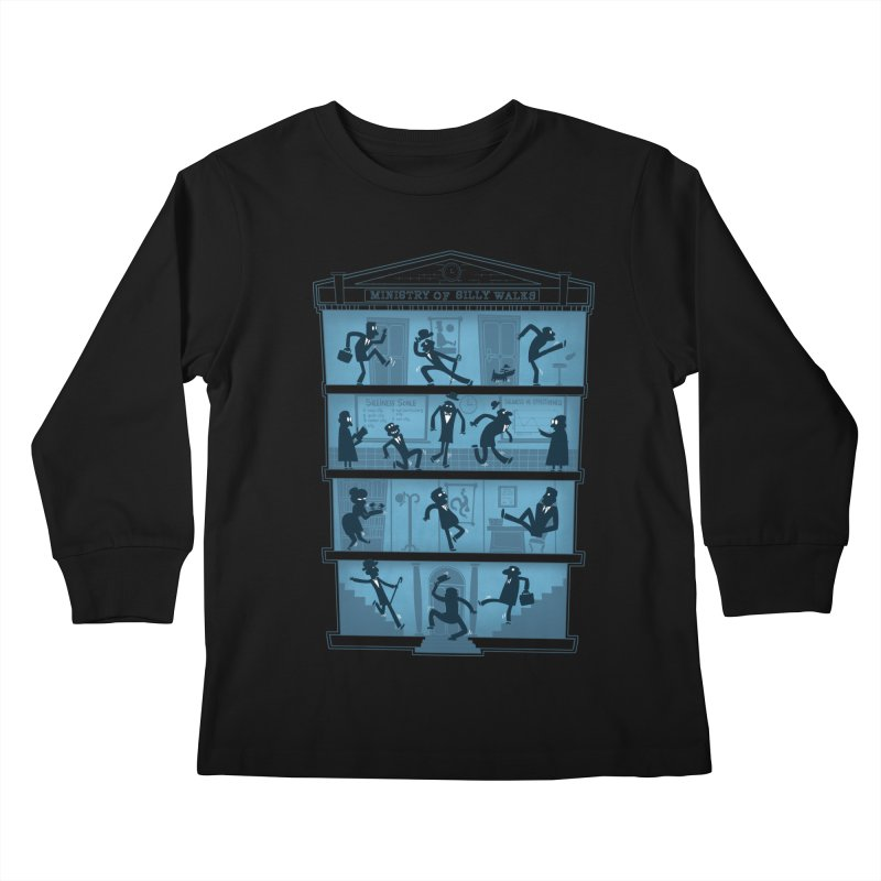 Silly Walking Kids Longsleeve T-Shirt by The Art of Anna-Maria Jung