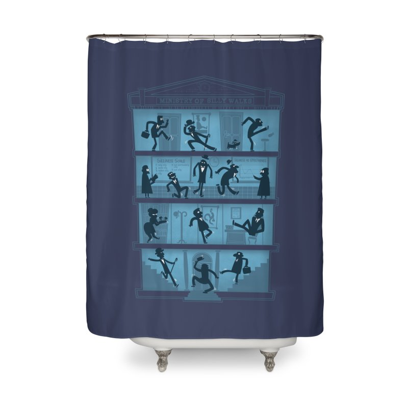 Silly Walking Home Shower Curtain by The Art of Anna-Maria Jung