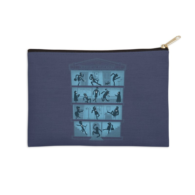 Silly Walking Accessories Zip Pouch by The Art of Anna-Maria Jung