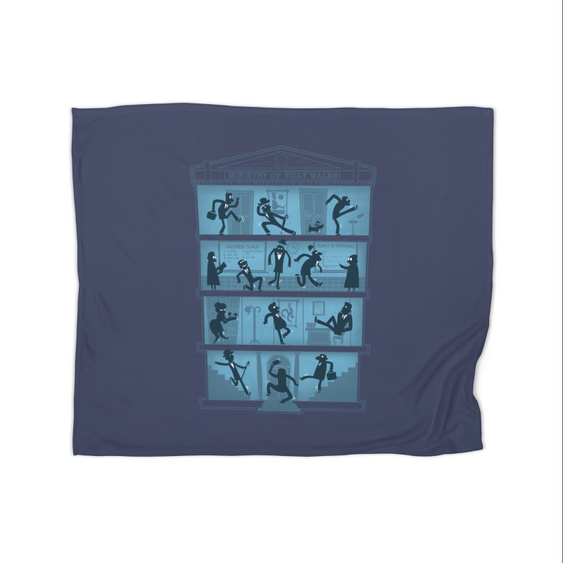 Silly Walking Home Fleece Blanket by The Art of Anna-Maria Jung