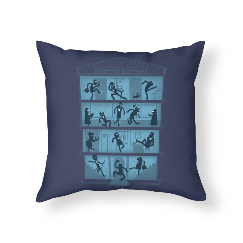 Silly Walking Home Throw Pillow by The Art of Anna-Maria Jung