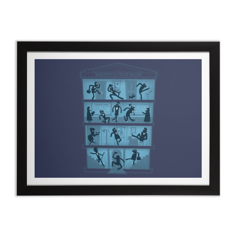 Silly Walking Home Framed Fine Art Print by The Art of Anna-Maria Jung