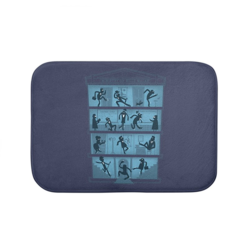 Silly Walking Home Bath Mat by The Art of Anna-Maria Jung