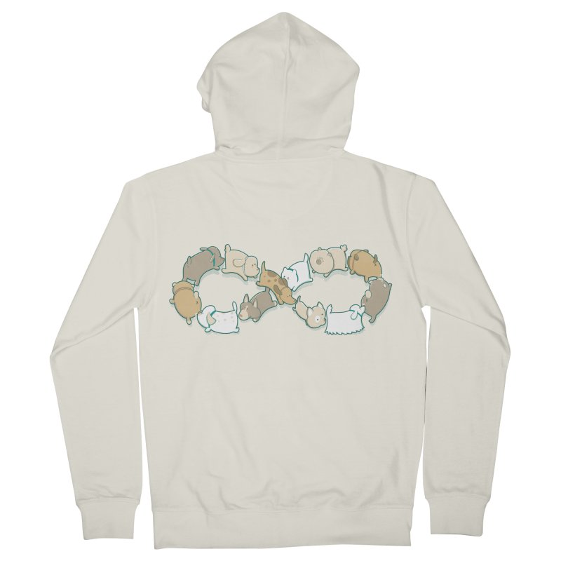 Moebis Butt Sniff Women's French Terry Zip-Up Hoody by The Art of Anna-Maria Jung