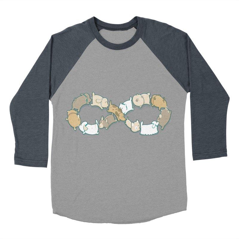 Moebis Butt Sniff Men's Baseball Triblend T-Shirt by The Art of Anna-Maria Jung