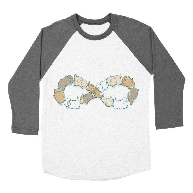 Moebis Butt Sniff Men's Baseball Triblend Longsleeve T-Shirt by The Art of Anna-Maria Jung