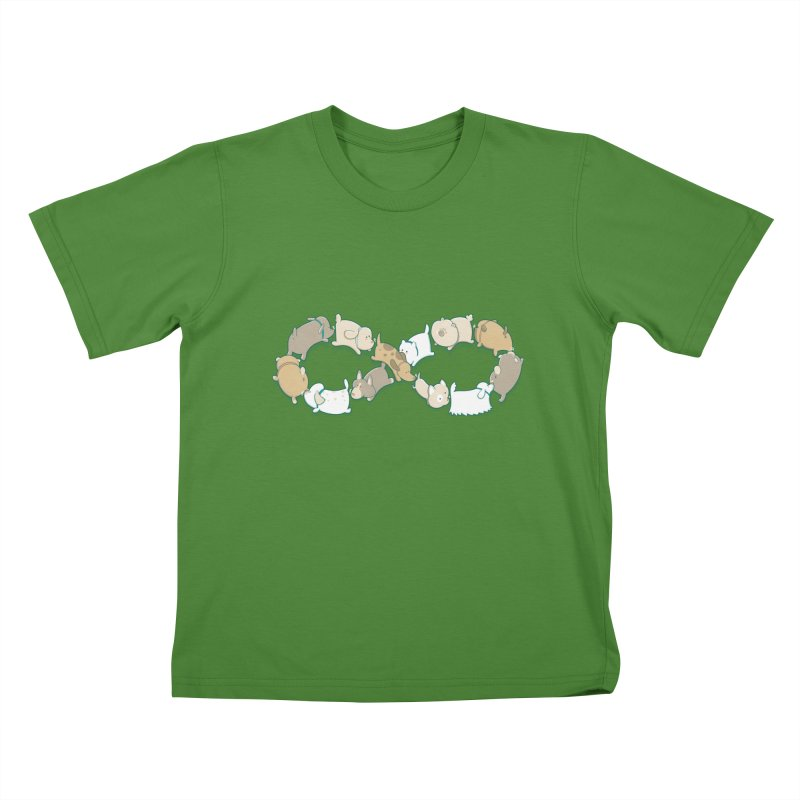 Moebis Butt Sniff Kids T-shirt by The Art of Anna-Maria Jung