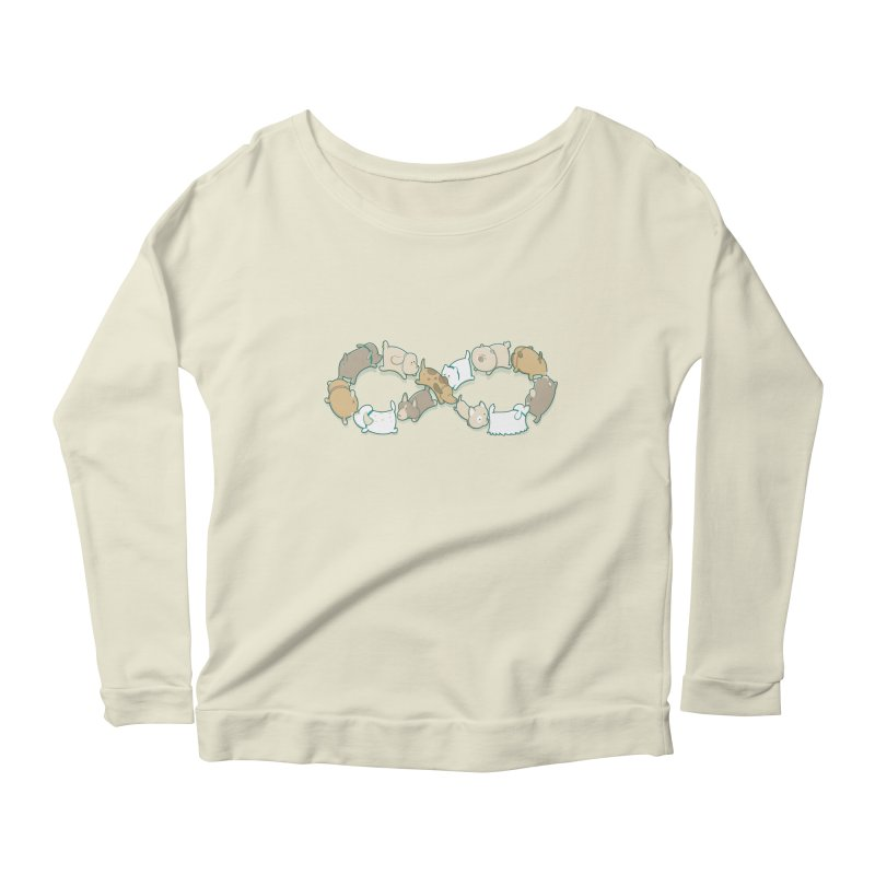 Moebis Butt Sniff Women's Longsleeve Scoopneck  by The Art of Anna-Maria Jung