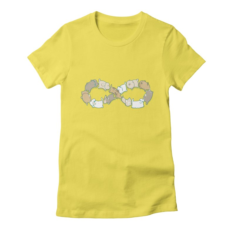 Moebis Butt Sniff Women's Fitted T-Shirt by The Art of Anna-Maria Jung