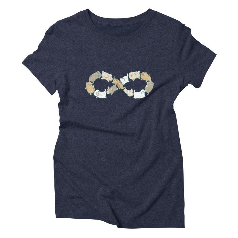 Moebis Butt Sniff Women's Triblend T-Shirt by The Art of Anna-Maria Jung