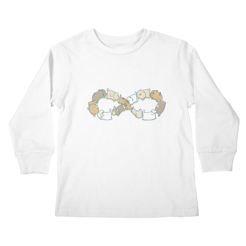 Moebis Butt Sniff Kids Longsleeve T-Shirt by The Art of Anna-Maria Jung