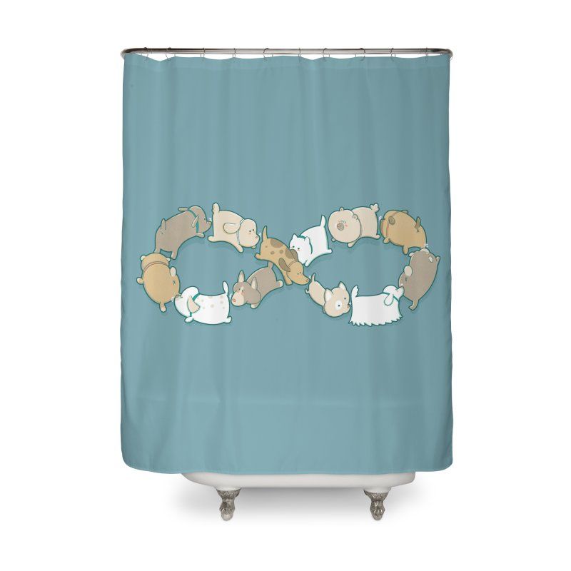 Moebis Butt Sniff Home Shower Curtain by The Art of Anna-Maria Jung