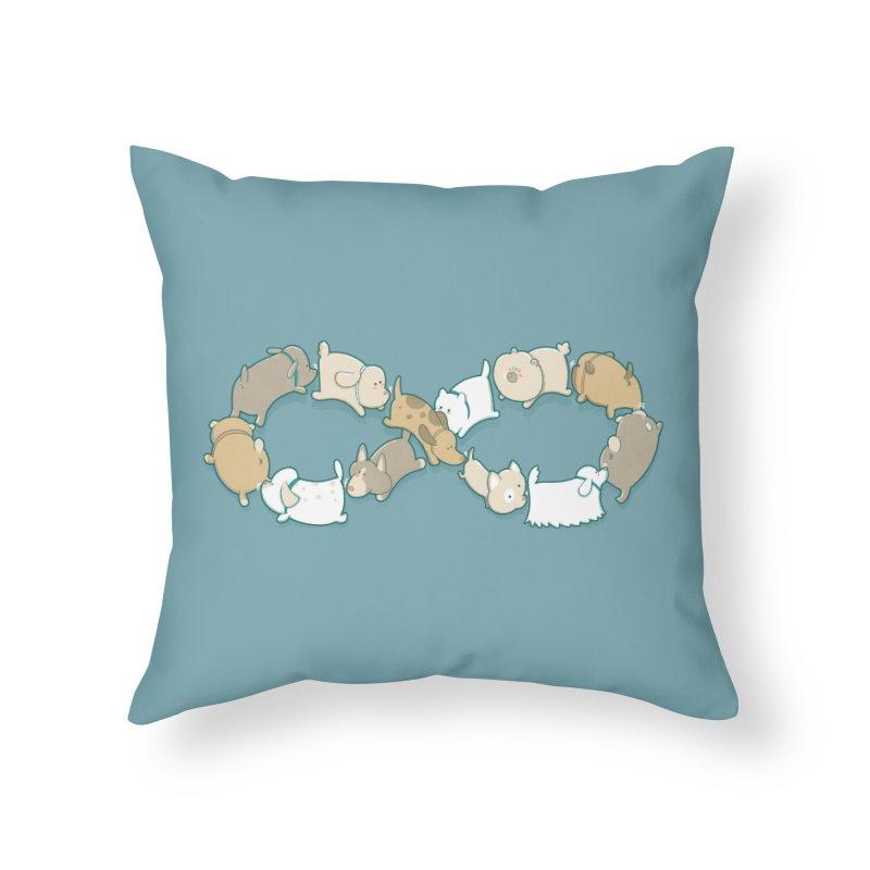 Moebis Butt Sniff Home Throw Pillow by The Art of Anna-Maria Jung