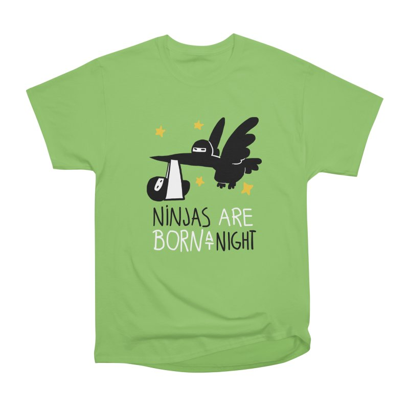 Ninjas are born at night Men's Heavyweight T-Shirt by The Art of Anna-Maria Jung