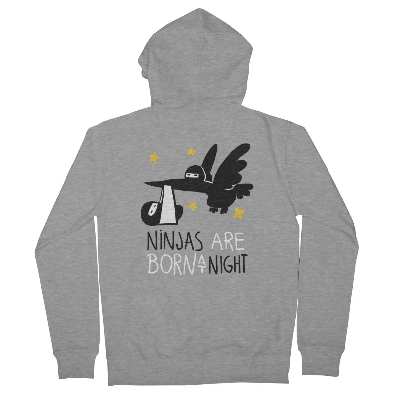 Ninjas are born at night Men's Zip-Up Hoody by The Art of Anna-Maria Jung