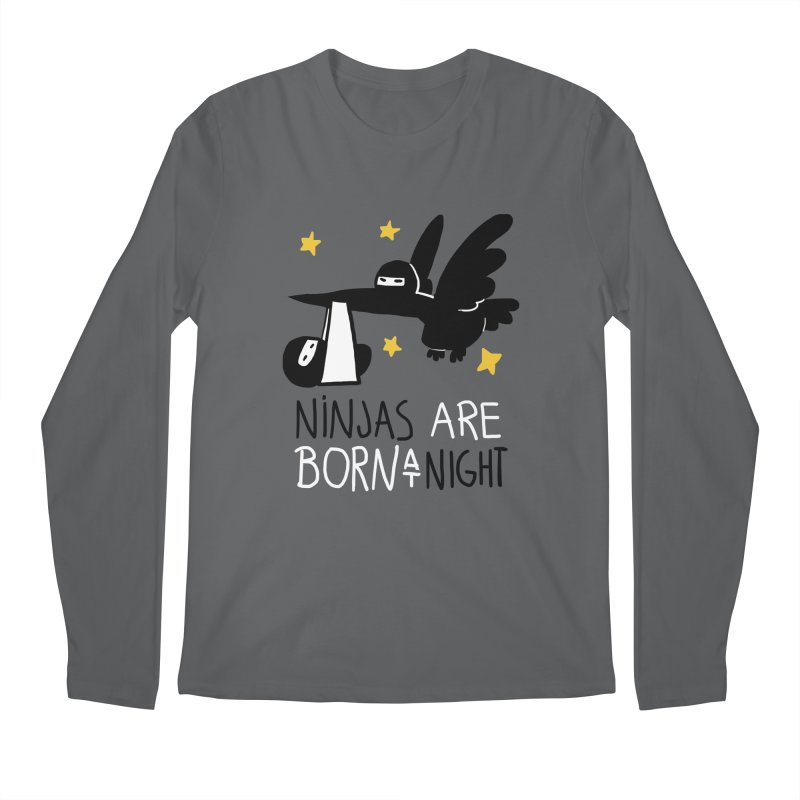 Ninjas are born at night Men's Longsleeve T-Shirt by The Art of Anna-Maria Jung