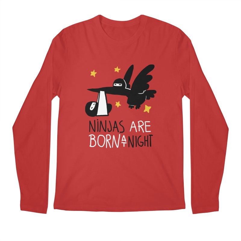 Ninjas are born at night Men's Regular Longsleeve T-Shirt by The Art of Anna-Maria Jung