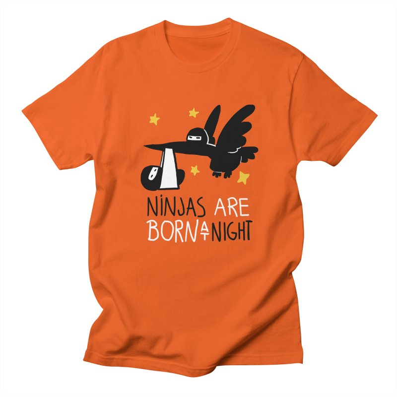 Ninjas are born at night Men's T-Shirt by The Art of Anna-Maria Jung
