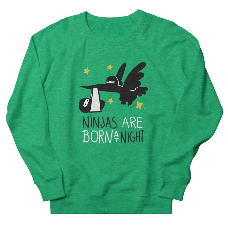 Ninjas are born at night Women's Sweatshirt by The Art of Anna-Maria Jung