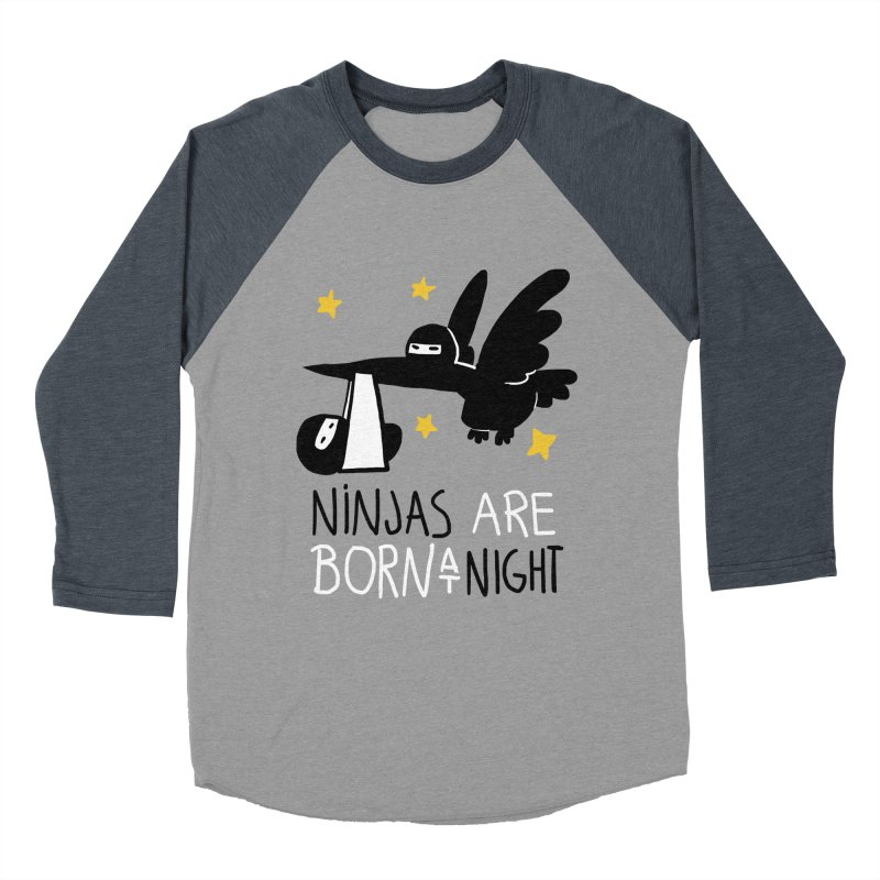 Ninjas are born at night Women's Baseball Triblend Longsleeve T-Shirt by The Art of Anna-Maria Jung