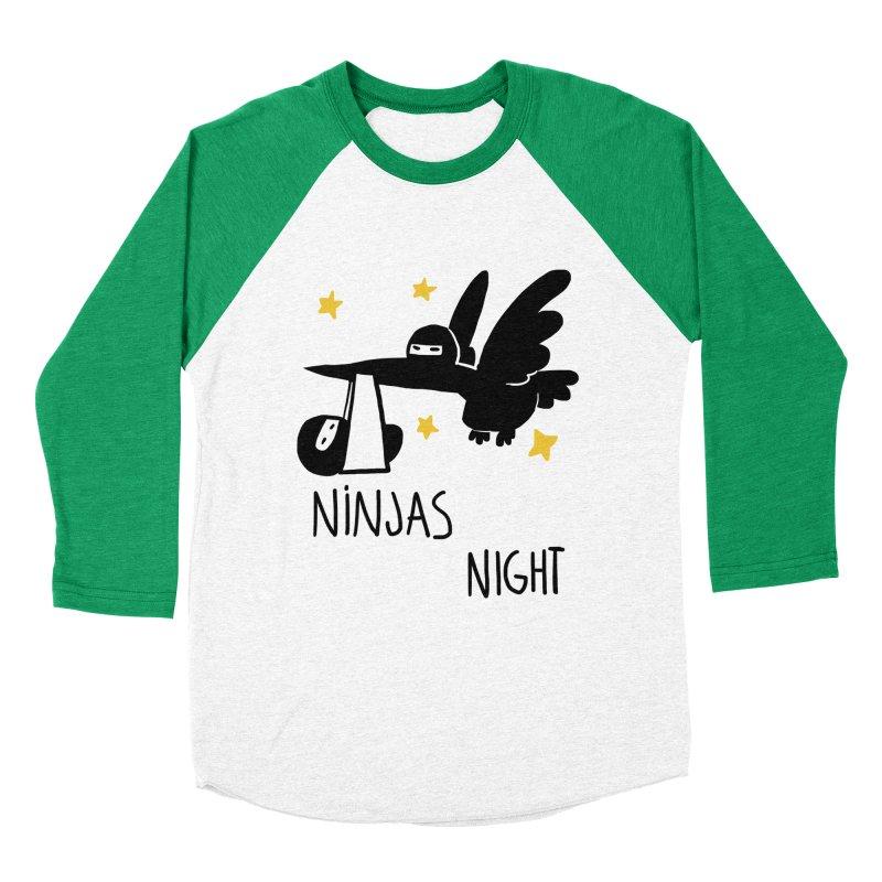 Ninjas are born at night Men's Baseball Triblend T-Shirt by The Art of Anna-Maria Jung
