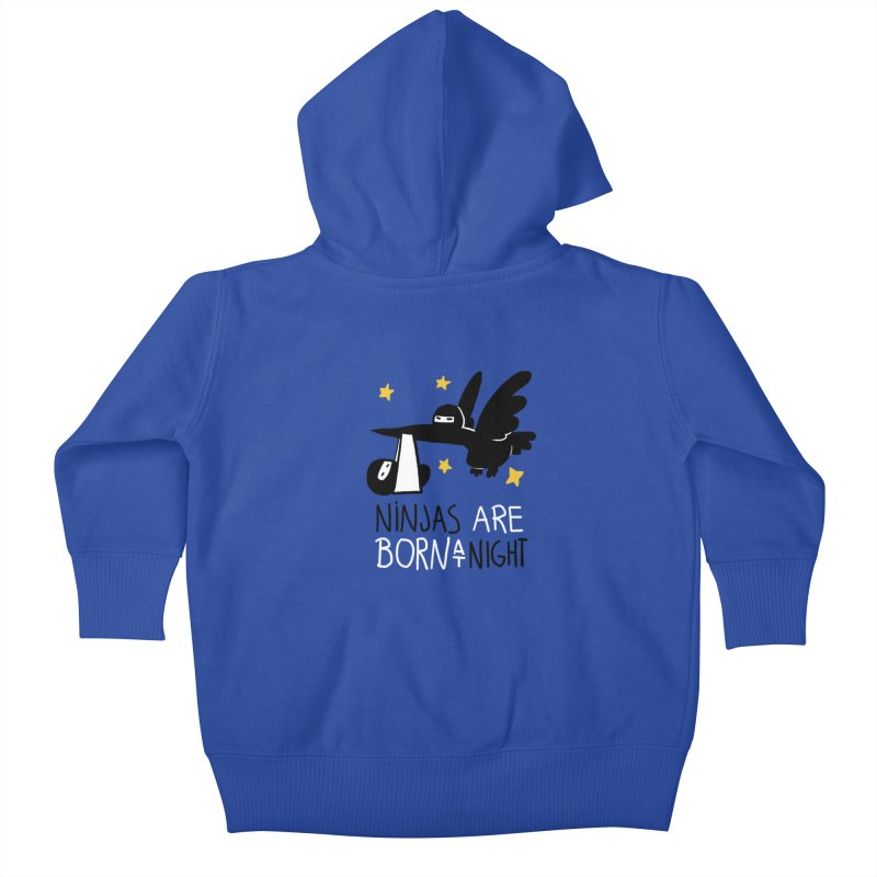 Ninjas are born at night Kids Baby Zip-Up Hoody by The Art of Anna-Maria Jung