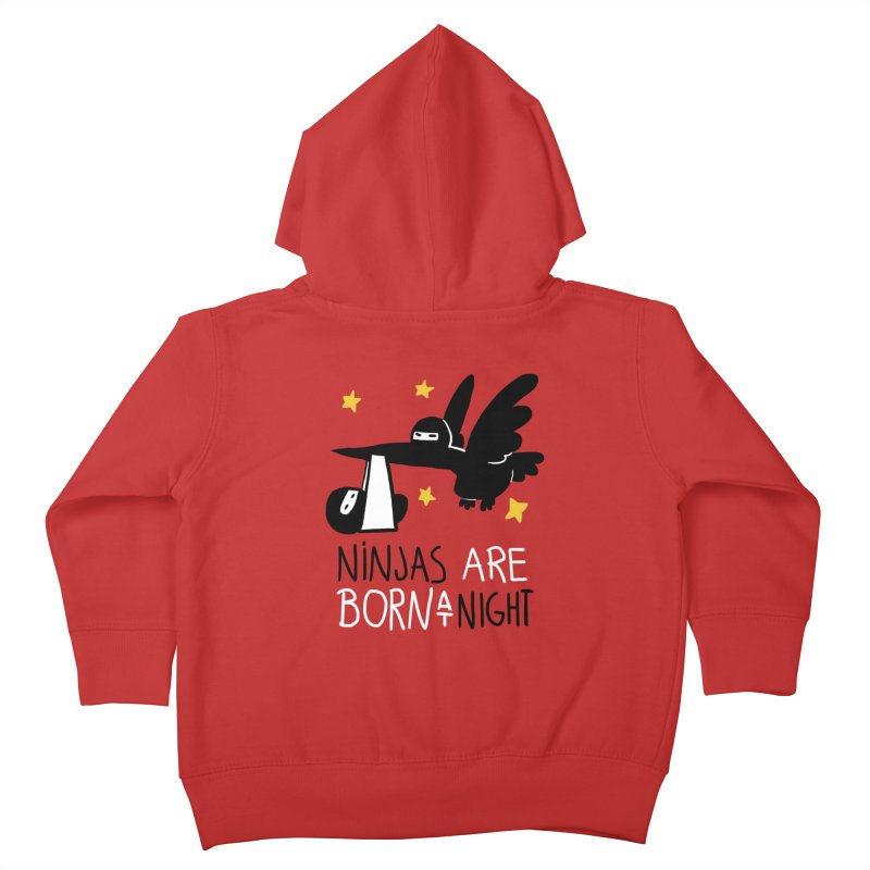 Ninjas are born at night Kids Toddler Zip-Up Hoody by The Art of Anna-Maria Jung